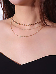 cheap -Women's Multi Layer Chain Necklace Layered Necklace - Casual Multi Layer Line Necklace For Daily Going out