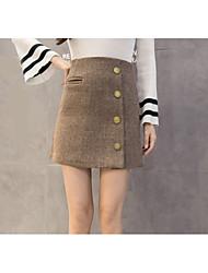 cheap -Women's Chic & Modern Mini A Line Skirts - Plaid/Check