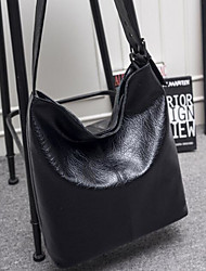 cheap -Women's Bags PU Shoulder Bag Zipper for Casual Outdoor Winter Fall Black Brown