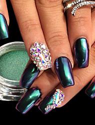 economico -1pc Lusso Brillanti Effetto dello specchio Cipria Polvere di glitter Glitter per unghie Modelli fantasia Nail Art Design Suggerimenti per