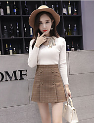 cheap -Women's A Line Skirts - Solid, Modern Style