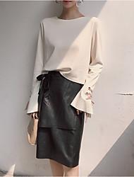 baratos -Mulheres Suéter - Estampado Saia