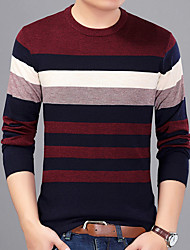 cheap -Men's Casual T-shirt Print Round Neck