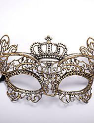economico -Carnevale Maschera mascherata Maschera veneziana Argento Dorato Metallo Accessori Cosplay Mascherata