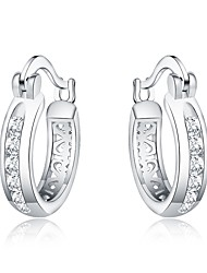 cheap -Women's Hoop Earrings - Silver Plated Fashion Silver For Daily