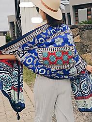 abordables -Femme Coton Classique & Intemporel Rectangle - Style classique