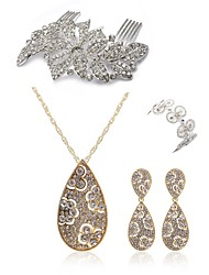 cheap -Women's Jewelry Set - Imitation Diamond Drop European, Fashion Include Hair Combs / Bridal Jewelry Sets Gold For Wedding / Party