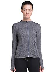 abordables -Tous Veste de Course Manches Longues Séchage rapide Shirt pour Course / Running Coton Noir / Gris L / XL / XXL