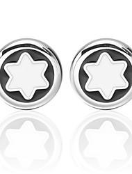 cheap -Snowflake Silver Cufflinks Universal Fashion Daily Formal Men's Costume Jewelry