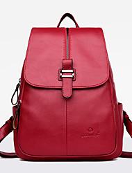 preiswerte -Damen Taschen PU Rucksack Reißverschluss für Normal Draussen Ganzjährig Blau Schwarz Rote