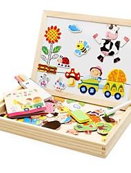 economico -Giocattolo per dipingere Tavole da disegno giocattolo Puzzle Classico A calamita Interazione tra genitori e figli di legno Regalo