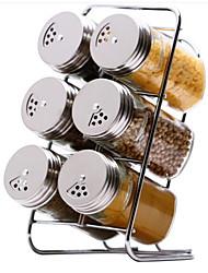 baratos -Aço Inoxidável Gadget de Cozinha Criativa Titulares de panelas 7pçs Organização de cozinha