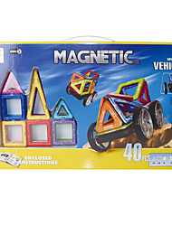 Недорогие -Магнитный конструктор Конструкторы 40pcs Классика Автомобиль трансформируемый Ручная работа Классический и неустаревающий Архитектура