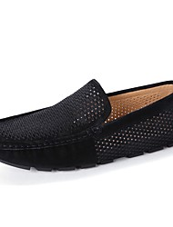 cheap -Men's Shoes PU Leather Spring Summer Driving Shoes Loafers & Slip-Ons for Casual Black Dark Blue Gray Khaki