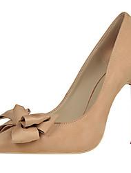 preiswerte -Damen Schuhe Pelz Frühling Herbst Gladiator Pumps High Heels Stöckelabsatz für Kleid Party & Festivität Grau Fuchsia Rot Wein Mandelfarben