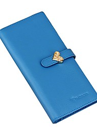 cheap -Women's Bags Cowhide Wallet Pocket Blue