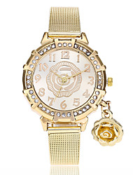 cheap -Women's Wrist watch Fashion Watch Chinese Quartz Imitation Diamond Alloy Band Flower Casual Gold