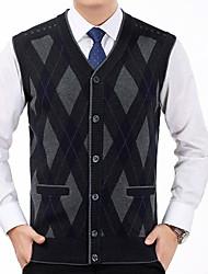 cheap -Men's Sleeveless Vest - Color Block V Neck