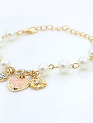 cheap -Women's Charm Bracelet Fashion Imitation Pearl Alloy Geometric Heart Jewelry Daily Costume Jewelry Gold