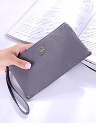 cheap -Women's Bags PU Wallet Flower for Shopping Blushing Pink / Gray / Purple