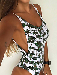 cheap -Women's Print Vintage Cute Sexy Sophisticated Strap One-piece Swimwear,Polyester White