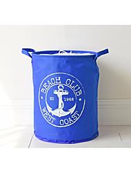 Недорогие -Средиземноморская синяя якорная пряжка Оксфорд ткань пучок хранения ведро водонепроницаемый мешок складной складной ведро