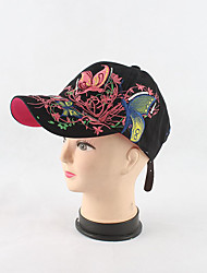 cheap -Women's Work Cotton Sun Hat Baseball Cap - Solid Colored Floral / Botanical Stylish Embroidery