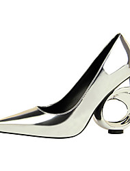 cheap -Women's Shoes Patent Leather Spring Summer Fashion Boots Comfort Novelty Heels Wedge for Casual Party & Evening Gold Black Silver