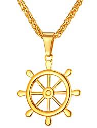 Недорогие -Муж. , Cool Ожерелья с подвесками , Нержавеющая сталь Ожерелья с подвесками , Повседневные Для улицы