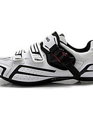 abordables -Tiebao® Chaussures de Vélo de Route Chaussures Vélo / Chaussures de Cyclisme Adulte Vélo de Route De plein air Cuir PVC Grille respirante