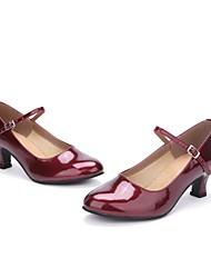 cheap -Women's Modern Leather Heel Pearl Customized Heel Red Customizable