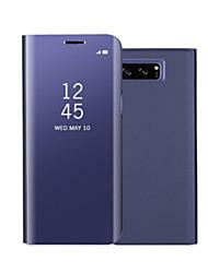 preiswerte -Hülle Für Samsung Galaxy Note 8 Note 5 mit Halterung Spiegel Flipbare Hülle Automatisches Schlafen/Aufwachen Ganzkörper-Gehäuse