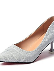 cheap -Women's Shoes PU Spring Fall Comfort Heels High Heel Pointed Toe for Casual Gray Beige Black