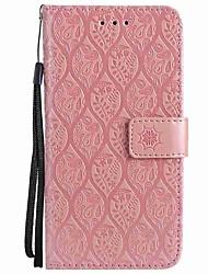 Недорогие -Кейс для Назначение Apple iPhone X iPhone 8 Plus Бумажник для карт Кошелек Защита от удара Кольца-держатели Флип Чехол Сплошной цвет