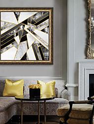 abordables -Abstrait Forme Illustration Art mural,PVC Matériel Avec Cadre For Décoration d'intérieur Cadre Art Salle de séjour Chambre à coucher
