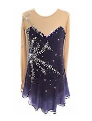 Недорогие -Платье для фигурного катания Для девочек Катание на коньках Платья Серый Эластичная Профессиональный стиль Для начинающих Одежда для