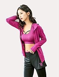 preiswerte -Damen Active Set Langarm Atmungsaktivität Super Schmal Kleidungs-Sets für Yoga Rennen Jogging Polyester Schlank Fuchsia Grau S M L XL XXL