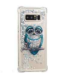 cheap -Case For Samsung Galaxy Note 8 Flowing Liquid Pattern Back Cover Glitter Shine Owl Soft TPU for Note 8