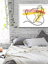 cheap -Abstract People Illustration Wall Art,PVC Material With Frame For Home Decoration Frame Art Living Room Bedroom Kitchen Dining Room Kids