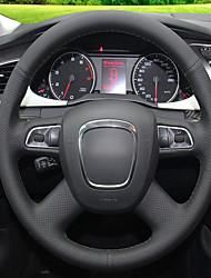 Недорогие -автомобильные крышки рулевого колеса (кожа) для Audi A4L старого стиля с ключевыми моделями