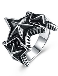 cheap -Men's Stainless Steel Statement Ring - Vintage / Rock / European Silver Ring For Party / Club