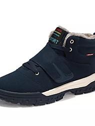 baratos -Homens sapatos Couro Ecológico Primavera Outono Conforto Botas Caminhada Cadarço para Casual Chocolate Preto Azul