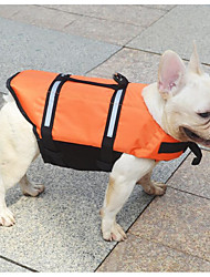 baratos -Gato Cachorro Colete Salva-Vidas Roupas para Cães novo Prova-de-Água Sólido Laranja Amarelo Ocasiões Especiais Para animais de estimação