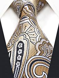 abordables -Homme Rayonne Soirée Travail Cravate Fleur Géométrique Jacquard