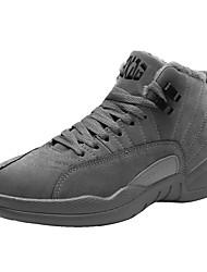 baratos -Homens sapatos Couro Ecológico Primavera Outono Conforto Tênis para Casual Preto Cinzento Amêndoa