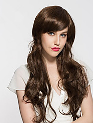 cheap -Synthetic Wig Wavy Layered Haircut Synthetic Hair Natural Hairline Brown Wig Women's Long Capless Light Brown