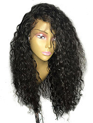 cheap -Human Hair Brazilian Hair Lace Wig Curly With Baby Hair Glueless Lace Front Unprocessed 100% Virgin African American Wig Natural Hairline