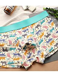 cheap -Men's Micro-elastic printing Briefs Underwear Medium,Cotton One-piece Suit Light gray Fuchsia Gray Navy Blue Blushing Pink