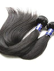 Недорогие -перуанские девственные человеческие волосы пучки шелковые прямые 2 штуки 200 г в продаже хорошие 9а качество перуанских remy человеческих