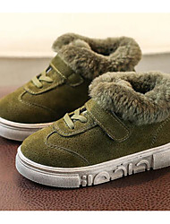 cheap -Boys' Shoes Fur Fall / Winter Comfort Sneakers for Casual Black / Brown / Army Green